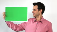 Charismatic Sales Guy With Green Screen Board, Double Take