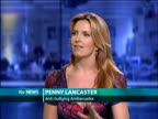 Charity campaigners Beatbullying launch online antibullying channel with Youtube ENGLAND London GIR INT Penny Lancaster LIVE STUDIO interview SOT