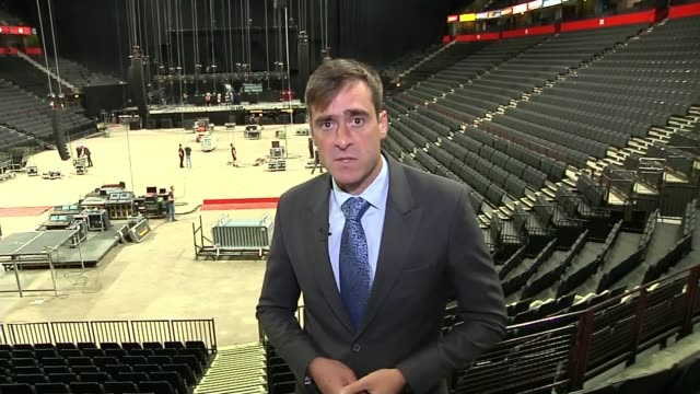 Charity concert to reopen Manchester Arena after deadly attack ENGLAND Manchester Manchester Arena INT Reporter to camera SOT Stuart Murray interview...