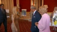 Charles and Camilla host 'Elephant family' charity event at Lancaster House INT **Music heard intermittently SOT** PHOTOGRAPHY** Charles and Camilla...