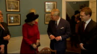 Charles and Camilla visit Dickens Museum ENGLAND London Doughty Street THROUGHOUT ** Gillian Anderson laughing then saying 'Be serious' as waiting...
