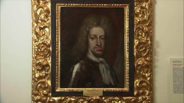 CU ZI Charles II portrait, El Escorial palace, Northwest of Madrid, Spain