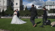 Charles Qian and his fiance Echo Li pose during a prewedding photography shoot at St Paul's Cathedral on October 11 2016 in London England It's a...