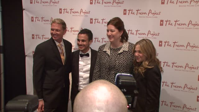 Charles Robbins Adamo Ruggiero Sarah Tomassi Lindman and Lauren Collins at the 8th Annual Trevor Project New York Gala at New York NY