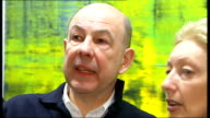 Charles Saatchi gifts his art collection to the nation TX 2722008 Edinburgh Close up of painting by Gerhard Richter Anthony d'Offay in gallery with...