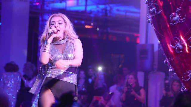 PERFORMANCE Charli XCX at Natalia Vodianova's Naked Heart Foundation to partner with amfAR in New York for Fabulous Fund Fair at Skylight Clarkson Sq...