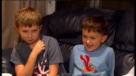 'Charlie Bit My Finger' Youtube video Harry and Charlie Davies Carr interview ENGLAND Buckinghamshire Marlow INT Harry Davies Carr and Charlie Davies...