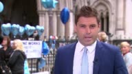 Parents end legal fight over treatment London Royal Courts of Justice Chris Gard statement to press SOT Reporter to camera Royal Courts of Justice...