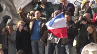 Charlie Hebdo rally in Paris and French police on streets