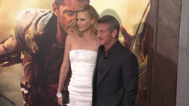 Charlize Theron and Sean Penn at the 'Mad Max Fury Road' Los Angeles Premiere at TCL Chinese Theatre on May 07 2015 in Hollywood California