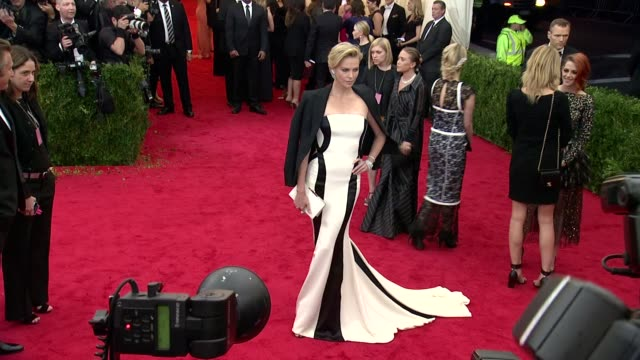 Charlize Theron at 'Charles James Beyond Fashion' Costume Institute Gala Arrivals at The Metropolitan Museum on May 05 2014 in New York City