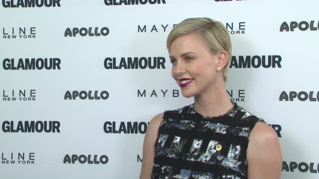 Charlize Theron at Glamour's The Power Of An Educated Girl With Special Guest First Lady Michelle Obama at The Apollo Theater on September 29 2015 in...