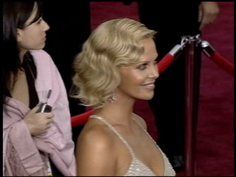 Charlize Theron at the 2004 Academy Awards Arrivals at the Kodak Theatre in Hollywood California on February 29 2004