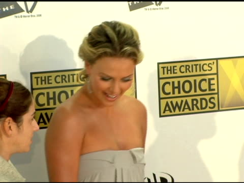 Charlize Theron at the 2006 Critics' Choice Awards arrivals at Santa Monica Civic Auditorium in Santa Monica California on January 9 2006
