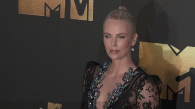 Charlize Theron at the 2016 MTV Movie Awards at Warner Bros Studios on April 9 2016 in Burbank California