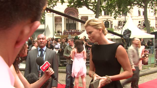 Charlize Theron at the Hancock Premiere at London