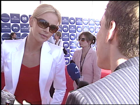 Charlize Theron at the Independent Spirit Awards at Santa Monica Pier in Santa Monica California on February 28 2004