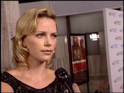 Charlize Theron at the 'Monster' Premiere at the Cinerama Dome at ArcLight Cinemas in Hollywood California on November 16 2003