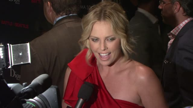 Charlize Theron at the The Cinema Society and Dior Beauty Host a Screening of Battle in Seattle at New York NY
