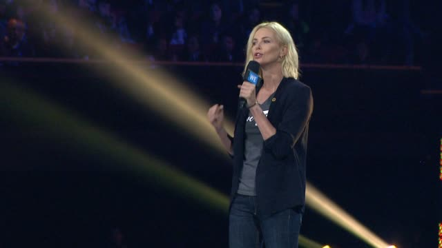 SPEECH Charlize Theron at WE Day California at The Forum on April 07 2016 in Inglewood California