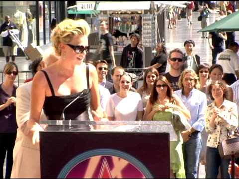 Charlize Theron on receiving a Star on the Hollywood Walk of Fam at the Dedication of Charlize Theron's star on the Hollywood Walk of Fame at...
