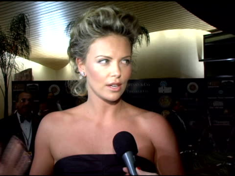 Charlize Theron on why even after an Oscar winning the Palm Springs Achievement award means a lot to her and on her personal greatest achievement at...