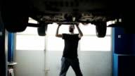 Charming mechanic working