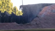 Charred House Being Hosed on July 24 2013 in Carmel Indiana