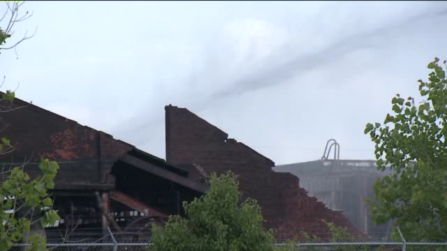WXIN Charred Recycling Warehouse After Fire on June 17 2013 in Indianapolis Indiana