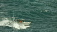 Charter Boat On Rough Sea In Slow Motion
