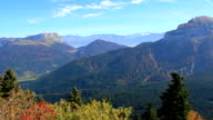 Chartreuse mountain Range in autumn