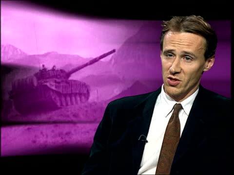 Russian advances ITN ENGLAND London GIR Mark Latimer interview SOT Talks of reasons international community has not intervened in Chechnya