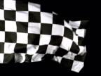 A checkered flag