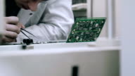 Checking mother board after smt assemblage