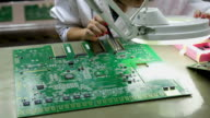 Checking mother board for communication network device after SMT