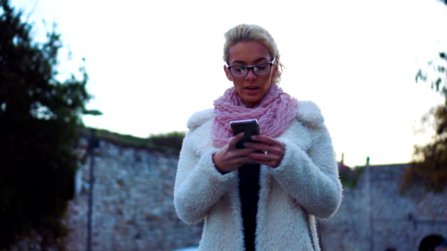 Checking texts while walking