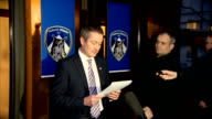 Oldham Athletic Statement ENGLAND Greater Manchester Oldham PHOTOGRAPHY** Neil Joy along to microphones Neil Joy speaking to press and reading...