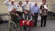 HD: Cheerful Group Of Injured Seniors