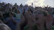MS LA DS Cheering crowd in bleachers