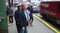 Chef Anthony Bourdain exits Good Morning America in New York NY on 1/14/13