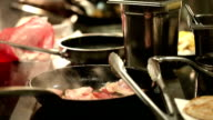 Chef cooking background
