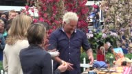 Chef Guy Fieri on the outside set of the Good Morning America show with George Stephanopoulos Amy Robach Lara Spencer in Celebrity Sightings in New...