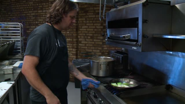 WGN Chef Sautés Fruits and Vegetables in a German Restaurant Kitchen in Chicago on September 23 2015