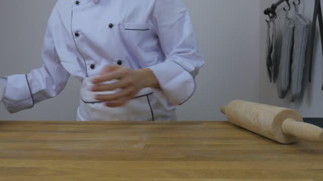 chef's sprinkling flour