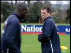 Abramovich signs more players ITN Wayne Bridge on training pitch