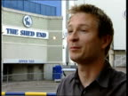 Abramovich signs more players London Stamford Bridge Leo Spall interviewed about Chelsea FC SOT