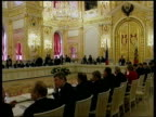 POOL FEDERATION Moscow INT Conference in elaborate room SLOW MOTION Roman Abramovich along to sit at conference