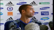 Chelsea FC Press Conference as Ashley Cole signs to the club Ashley Cole press conference SOT talks of Arsene Wenger telling him that he would like...