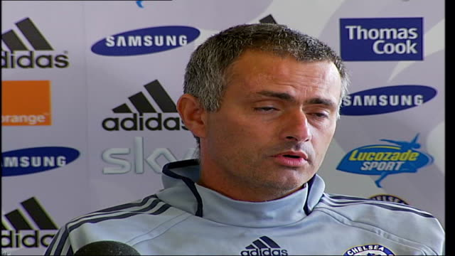 Chelsea FC Press Conference as Ashley Cole signs to the club Jose Mourinho Manager of Chelsea Football Club press conference SOT talks of positive...