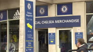 Chelsea FC tries to distance themselves from talk of discrimination Exterior shots fans arriving at Stamford Bridge Chelsea FC stadium security with...